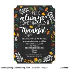 Thanksgiving Dinner Party Invitation With Typography and Fall Leaves. Dinner Party Invitation With Typography and Fall Leaves. Dinner Party Invitations, Ticket Invitation, Holiday Invitations, Zazzle Invitations, Invites, Shower Invitations, Birthday Invitations, Thanksgiving Invitation, Thanksgiving Parties