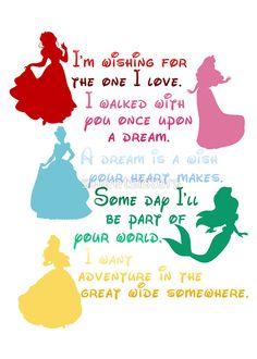 The princesses of Disney...some lyrics