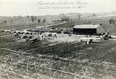 Louis Field as it appeared in (St. Louis Flying Field (re-named Lambert Field in during the field's first air meet on 25 November photograph Missouri History Museum Photographs and Prints Collections. Missouri, St Louis County, St Louis Mo, St Louis Cardinals, Oscar, History Museum, Historical Society, Old Pictures, Historical Photos