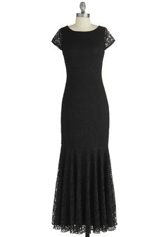 Velvet Rope Ready Dress. A stunning black gown never goes out of style! #black #modcloth. Bridesmaids dress idea for my future wedding. I LOVE this dress!!! <3