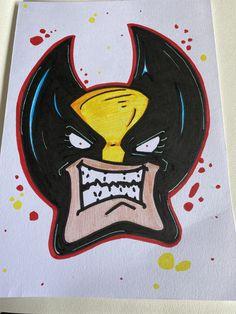 Graffiti Piece, Wolverine, Enamel, Accessories, Vitreous Enamel, Enamels, Tooth Enamel, Glaze, Jewelry Accessories