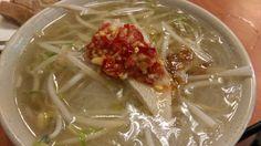 鴨肉扁の「米粉湯」