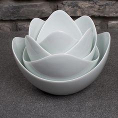 """Spin Schüssel Set """" Lotus"""" von 5 Elements Design auf DaWanda.com"""