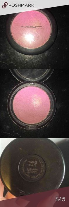 RARE Mac Vintage Grape Ombré Blush Rare, used a few times, not sure what the spot on it is, hard to find, will sell on merc@ri for 35 free ship MAC Cosmetics Makeup Blush