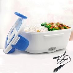 Our Electric Heated Lunch Box offers an abundance of storage for all your fresh and hot meals. It is the most reliable hot lunch box food warmer that you can bring anywhere. Heated Lunch Box, Food Storage Boxes, Warm Food, Lunch Box Recipes, Bento Box Lunch, Cool Gadgets, Food Grade, Electric, Walmart