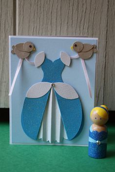 Cinderella Princess Party Set - Handmade Card & Peg Doll