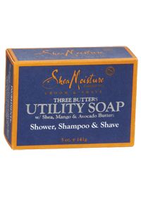Shea Moisture Three Butters Utility Bar Soap | A 3-in-1 bar of soap for my husband's suitcase