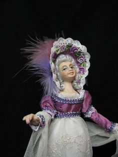 A Miniature 1/2 scale Porcelain Doll Dress in the by KaysStudio, $175.00