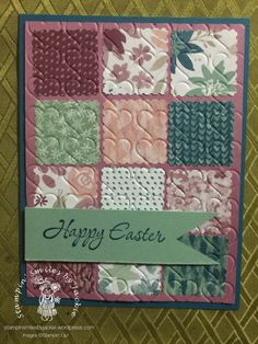 Quilt card Fun!   Stampin' Smiles by Jackie