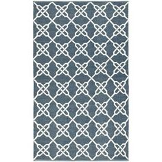 Eco-friendly knotted indoor/outdoor rug with a trellis motif.     Product: RugConstruction Material: Synthetic fiberColor: InkFeatures:  Made in IndiaHand-wovenSuitable for both indoor and outdoor use Note: Please be aware that actual colors may vary from those shown on your screen. Accent rugs may also not show the entire pattern that the corresponding area rugs have.