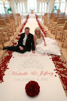 09527be4b52d love the carriage aisle design - A Cinderella Wedding - Hand-Painted Fabric  Wedding Aisle Runner - You select the length