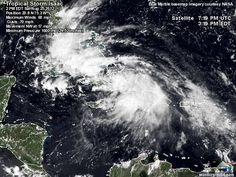 Tropical Storm Isaac : Storm-Centered Satellite Image | Weather Underground  Aug 25, 2012