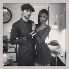 Beautiful couple Jasmine Tookes and Tobias Sorensen  #BWWM #Interracial couple