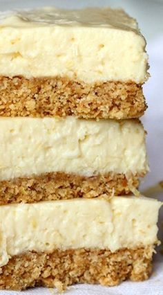 No Bake Lemon Icebox Bars