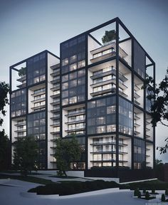 Residential building concept by Yan Soya Architect (Ян Соя)  ~ Great pin! For Oahu architectural design visit http://ownerbuiltdesig
