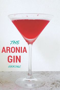 Is there anything more gorgeous than this Aronia Gin Cocktail? Nope.