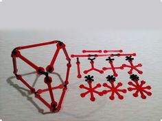 The design and print at home open source construction kit. Make and flexible structures. Print Males (black) in flexible filament. Double Skin, Wire Frame, 3d Prints, Chain Mail, Flexibility, Objects, Inspiration, Construction, Kit