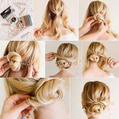 11 einfache Hochsteckfrisuren fr lange Haare  Zeichnen  Pinterest  Frisur hochgesteckt