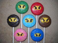 1 chocolate karate martial arts ninja molded oreo lollipops lollipop | sapphirechocolates - Edibles on ArtFire