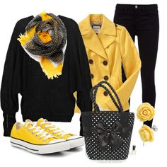"""""""Polka Dot Bee"""" by stylesbyjoey on Polyvore"""