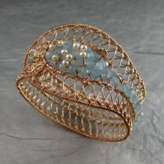 Bronze Decorative Wirewrap Bracelet from Wickwire Jewelry