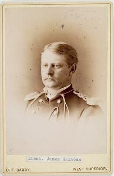 D.F. Barry Cabinet Card of Lieut. James Calhoun - killed at the Battle of Little Big Horn.