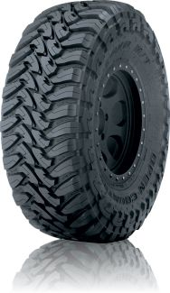 Toyo Tires Open Country M/T Mud-Terrain Tire Features: Aggressive, attack tread design with hook shaped blocks Open, scalloped shoulder blocks Over-the-shoulder tread Deep siping in the tread blocks High turn-up, polyester casing Truck Tyres, Truck Wheels, 4x4 Tires, Rims And Tires, Wheels And Tires, Cheap Jeeps, Cooper Tires, Pirelli, Tires For Sale