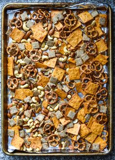 I put a spicy twist on a classic plane snack and upgraded the ingredients to be a little bit more balanced and interesting with this Gochujang Snack Mix. Snack Mix Recipes, Potluck Recipes, Healthy Recipes, Healthy Chex Mix, Plane Snacks, Healthy Travel Snacks, Whole Grain Cereals, Cookout Food, Champagne Taste