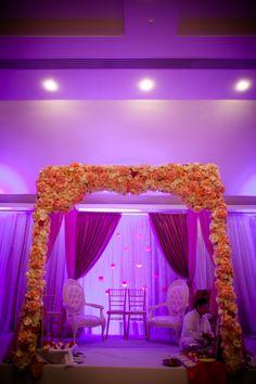 Indian wedding decor mandap