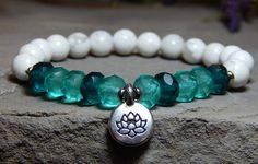 Lotus Flower Bracelet Lotus Bracelet Beaded Yoga Bracelet