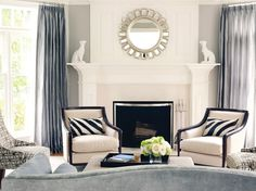 Living Room by Susan Glick Interiors | Salon Chair | Barbara Barry Collection | Baker Furniture