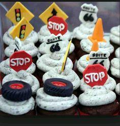 Roadway cupcakes.