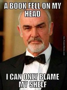 Funny memes – Blame my shelf