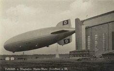 Zeppelin Hindenburg at Frankfurt Hanger 1936