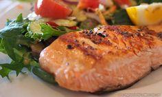 salmão grelhado para ganhar massa muscular
