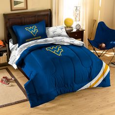 West Virginia Mountaineers NCAA Bed in a Bag (Twin)