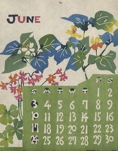 Mingei Calendar  | Katazome Calendar: Takeshi Nishijima