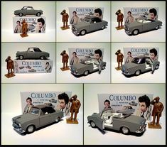 Columbo Special Edition Grey Peugeot 403 Peter Falk With Code 3 Display BOX | eBay