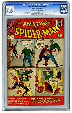 Amazing Spider-Man #4 CGC 7.5 Origin & 1st Sandman Ditko Marvel Silver Age Comic