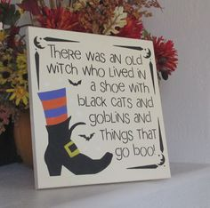 Wooden Halloween Sign - Halloween Sign - Wooden Sign by WyliesWhimsicals on Etsy brujas halloween ideas Halloween Projects, Halloween Crafts, Holiday Crafts, Holiday Fun, Halloween Decorations, Halloween Ideas, Samhain Decorations, Halloween Pallet, Halloween Quotes