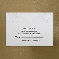 Baroque Brilliance - Respond Card and Envelope weddingneeds.carlsoncraft.com