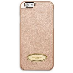 Michael Michael Kors Pale Gold Rhinestone Plaque Iphone174 6 Cover ($40) ❤ liked on Polyvore featuring accessories, tech accessories, phone cases, pale gold and michael michael kors