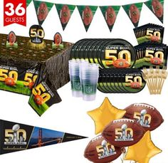 Party City Super Bowl 50 Ultimate Party Kit