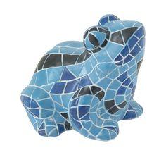 Vivid & attractive blue frog figurine