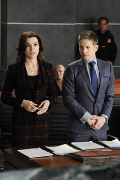 Still of Julianna Margulies and Matt Czuchry in The Good Wife (2009)