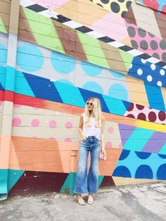 Inspiration for the Dawn rigid jeans sewing pattern by Megan Nielsen // 10 Things I Love Sunday Ur Beautiful, Mural Wall Art, Wide Leg Jeans, Spring Summer Fashion, My Girl, Street Art, Sunday, Style Inspiration, My Love