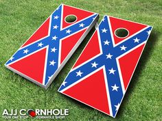 These top of the line Confederate Flag Cornhole Sets are sure to bring life to any party! Support your southern roots! www.ajjcornhole.com
