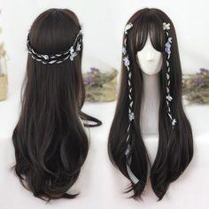 Black-brown Natural Long Curly Wig SP178707