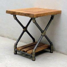 Furniture Pipeline Houston Industrial Side Table, Brass