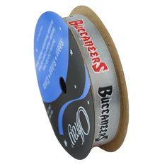 "Tampa Bay Buccaneers ribbon 5/8"" width- NFL RIBBON"